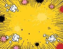 Comic-Buchhintergrund Stockfoto
