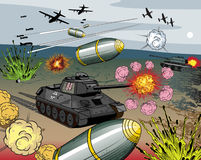 Comic-Buchkriegexplosion Stockbild
