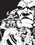 Comic-Buchkunst Lizenzfreies Stockbild