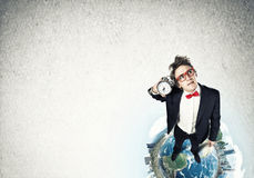 Comic businessman in red glasses Royalty Free Stock Photography
