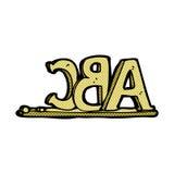 comic cartoon ABC letters Stock Photos