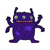 comic cartoon alien monster Royalty Free Stock Images