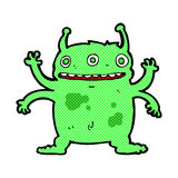 comic cartoon alien monster Stock Photos