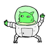 comic cartoon alien Stock Photo