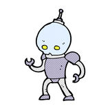 comic cartoon alien robot Stock Photo