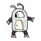 comic cartoon alien robot Royalty Free Stock Photography