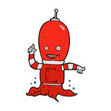 Comic cartoon alien spaceman Royalty Free Stock Photo
