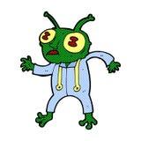 Comic cartoon alien spaceman Stock Images