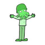 Comic cartoon alien squid face man Stock Photo