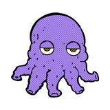 Comic cartoon alien squid face Royalty Free Stock Photo