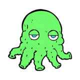 Comic cartoon alien squid face Royalty Free Stock Images