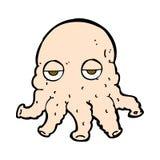 Comic cartoon alien squid face Royalty Free Stock Photos