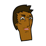 comic cartoon angry face Royalty Free Stock Photography