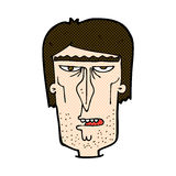 Comic cartoon angry face Stock Image