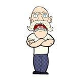 Comic cartoon angry man Stock Photography