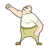 Comic cartoon angry man Royalty Free Stock Photography