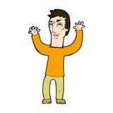 Comic cartoon angry man Stock Image