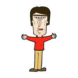 Comic cartoon angry man Royalty Free Stock Images