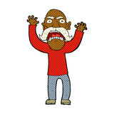 Comic cartoon angry old man Royalty Free Stock Photos