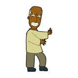 comic cartoon angry old man Stock Photo