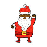 Comic cartoon angry santa claus Stock Photo