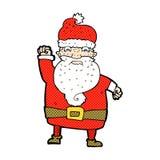 Comic cartoon angry santa claus Stock Photos