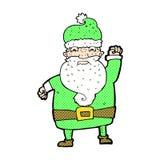Comic cartoon angry santa claus Stock Photography
