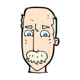 Comic cartoon annnoyed old man Stock Photography