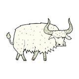 Comic cartoon annoyed hairy ox Stock Image