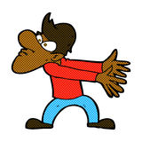 comic cartoon annoyed man gesturing Stock Photography