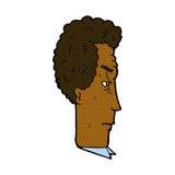 Comic cartoon annoyed man Stock Images