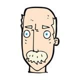 Comic cartoon annoyed old man Stock Photo