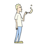 comic cartoon annoyed smoker Royalty Free Stock Images