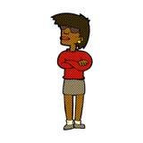 Comic cartoon annoyed woman Stock Photo