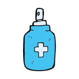 Comic cartoon antiseptic spray Royalty Free Stock Photo