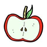 Comic cartoon apple half Royalty Free Stock Images