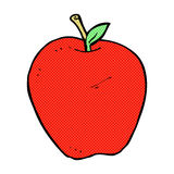 Comic cartoon apple. Retro comic book style cartoon apple Royalty Free Stock Images