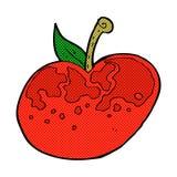 comic cartoon apple Stock Photos