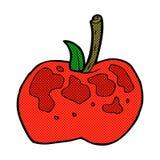 comic cartoon apple Stock Photo