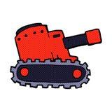 comic cartoon army tank Stock Image