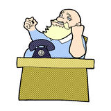 Comic cartoon arrogant boss man Stock Images