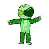 comic cartoon astronaut reaching Royalty Free Stock Photography