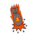 comic cartoon atom bomb Royalty Free Stock Image
