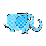 comic cartoon baby elephant Royalty Free Stock Photography