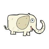 Comic cartoon baby elephant Stock Image