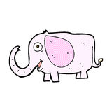 comic cartoon baby elephant Royalty Free Stock Photo