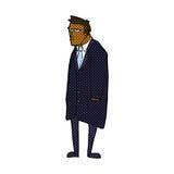 Comic cartoon bad tempered man Stock Photo