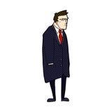 comic cartoon bad tempered man Stock Photography