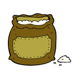 Comic cartoon bag of flour Stock Images