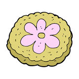 Comic cartoon baked biscuit. Retro comic book style cartoon baked biscuit Royalty Free Stock Photo